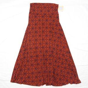 LULAROE Cool pattern Maxi skirt Large